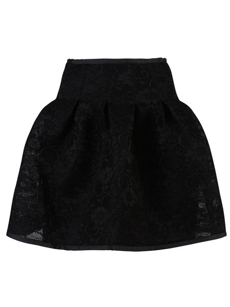 Zibi London Bonded Lace Puff Skirt
