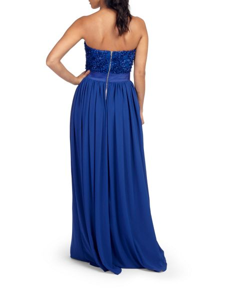 Zibi London Petal Chiffon Maxi Dress