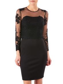 Zibi London Sleeveless Lace Dress