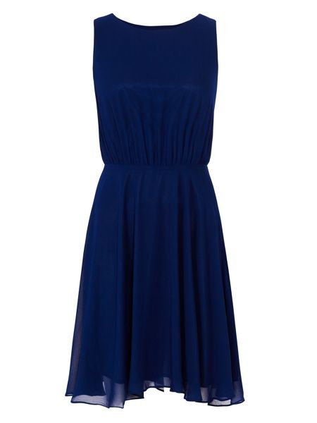 Zibi London Open Back Skater Dress