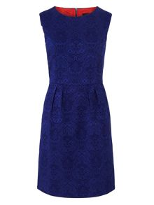 Zibi London Jacquard Fitted Dress