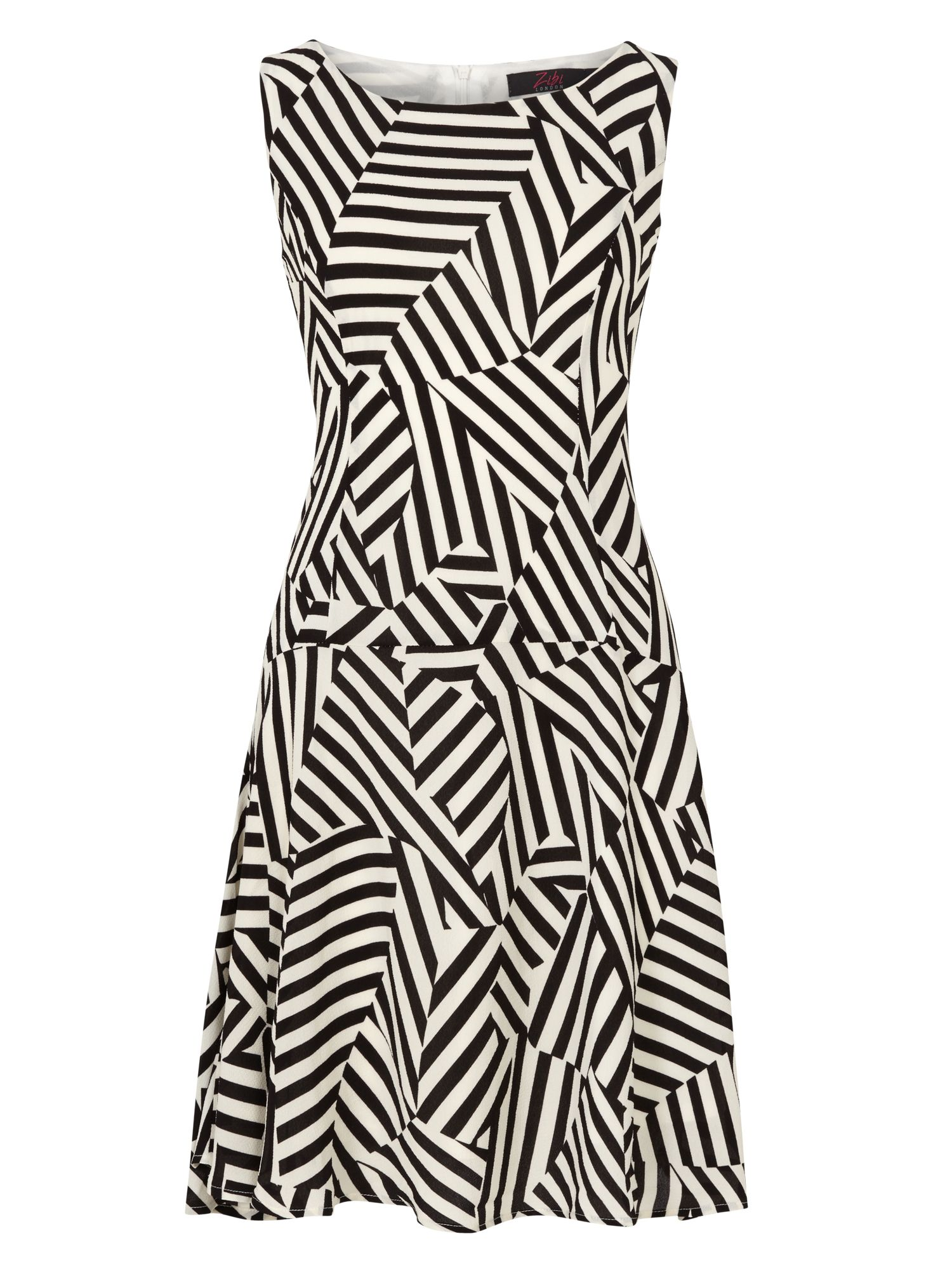 Zibi London Cutabout Stripe Crepe Dress