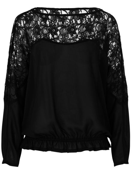 Zibi London Lace Panel Top