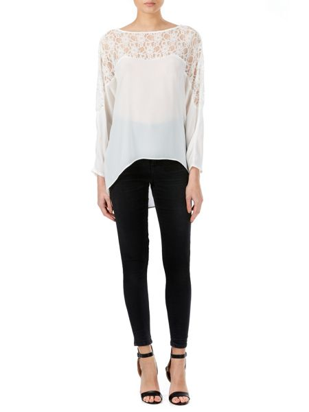 Zibi London Lace Batwing Top