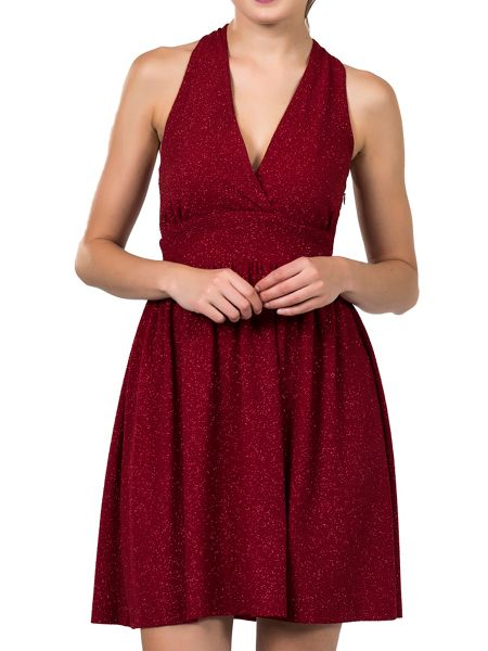 Zibi London Wrap Neck Twisted Back Party Dress