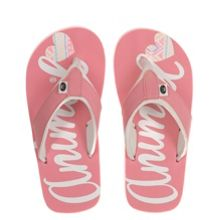 Animal Girls` Swish Logo flip flop