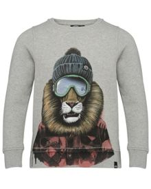 Animal Boys Lion Crew Sweatshirt