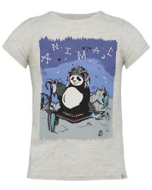 Animal Girls Panda Graphic T-Shirt