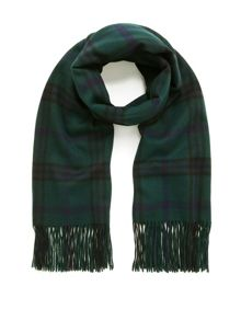 Mulberry Check felted wool scarf