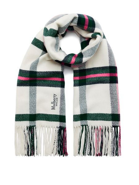 Mulberry Large check wool wrap