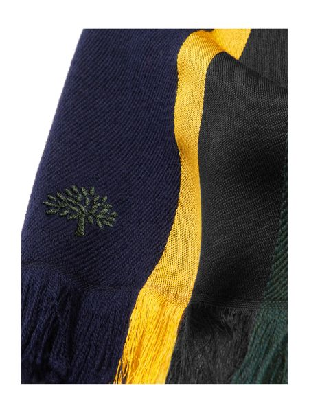 Mulberry Woven college stripe scarf