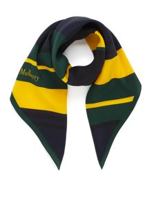 Mulberry Preppy stripe square scarf
