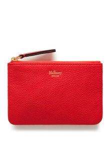 Mulberry Zip around coin pouch