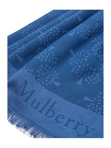 Mulberry Mulberry tree rectangular scarf