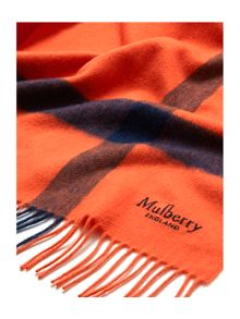 Mulberry Large check lambswool shawl