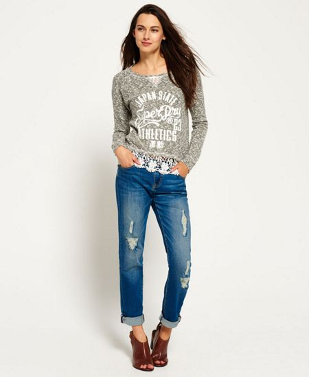 Superdry Lace Hem Crew Top