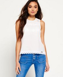 Superdry Broderie Shell Top