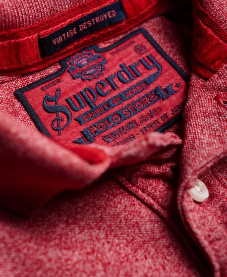 Superdry Vintage Destroyed Snow Polo Shirt