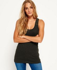 Superdry Super Sewn Rugged Lace Pocket Vest Top