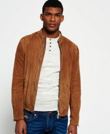 Superdry Slim Suede Harrington Jacket