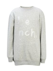 Bench Girls Metallic Logo Sweatshirt