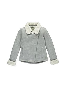 Girls Shearling-Lined Zip-Up