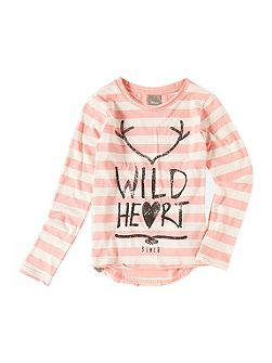 Girls Tuft Cotton T-Shirt