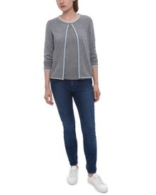Cashmere Tipped Cardigan