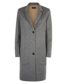 Jaeger Double-Faced Wool Lapel Coat