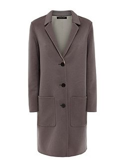 Double-Faced Wool Lapel Coat