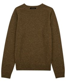 Jaeger Lambswool donegal sweater