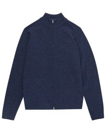 Jaeger Lambswool donegal cardigan