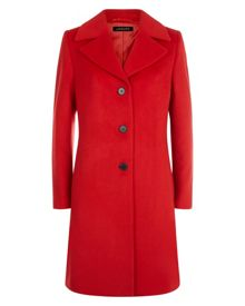 Jaeger Wool Three-Button Coat