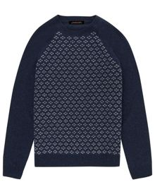 Jaeger Wool mini argyle sweater