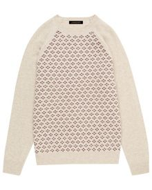 Wool mini argyle sweater