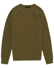 Wool moss stitch sweater