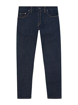Washed Selvedge Slim Leg Jeans