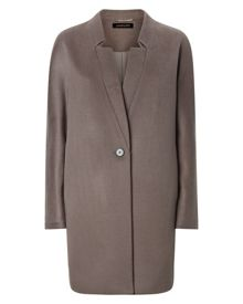 Wool Folded Lapel Coat