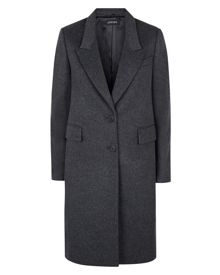 Wool Cashmere Boyfriend Coat