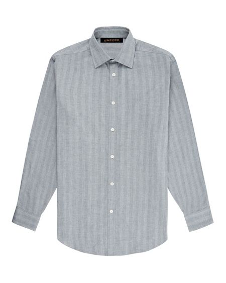 Jaeger Flannel Herringbone Shirt