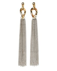 Curb Link and Chain Earrings