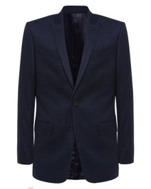 Wool Faded Check Suit