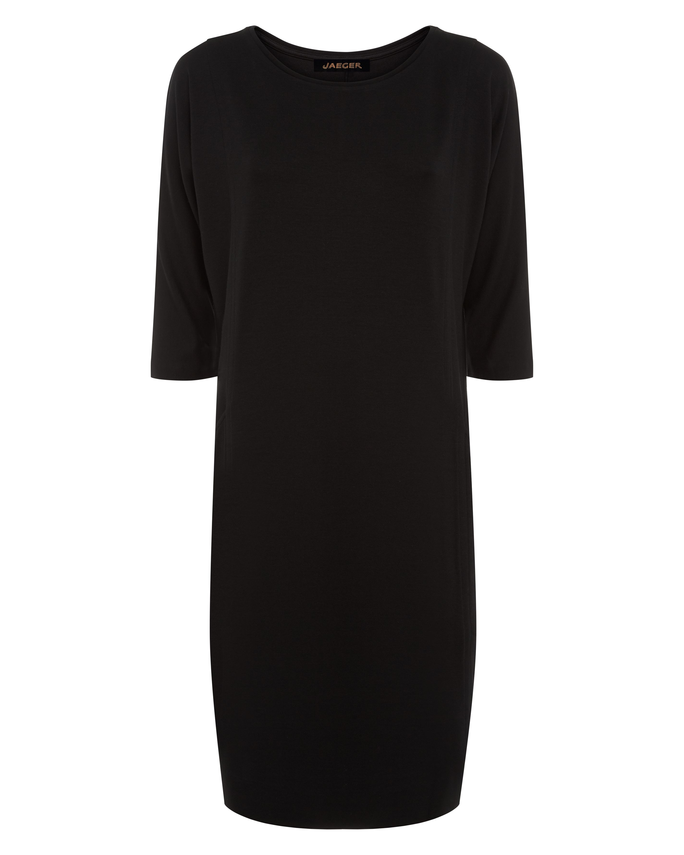 Jaeger Jersey Seamed Detail Dress, Black