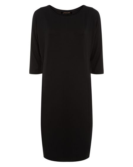 Jaeger Jersey Seamed Detail Dress