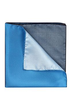 Silk colourblock pocket square