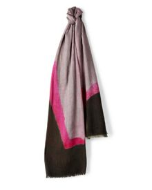 Wool-Blend Abstract Scarf