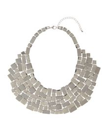 Geometric Link Bib Necklace