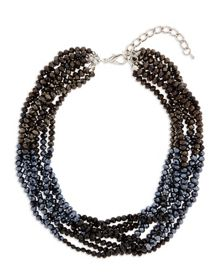Twisted Faceted Bead Necklace