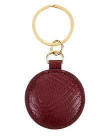 Leather Knot Embossed Keyring