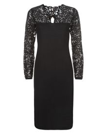 Wool Lace Sleeve Knitted Dress